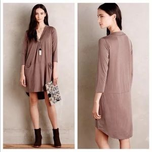 Anthropologie Tehran Tunic Dress Brown Taupe